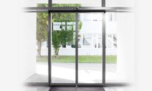 Porte automatique coulissante aluminium extérieur