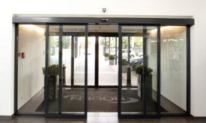 Porte automatique coulissante aluminium interieur